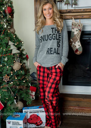 The Snuggle Is Real | Sweatshirt Slouchy, Christmas tops, christmas outfit, 2019 christmas gift