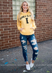 Iowa City Hoodie | Yellow, GAMEDAY, vendor-unknown, badhabitboutique