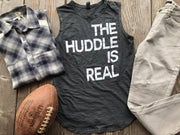 The Huddle Is Real Muscle Tank, CLOTHING, BAD HABIT APPAREL, BAD HABIT BOUTIQUE