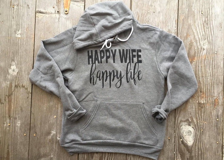 Happy Wife Happy Life Hoodie, MOM COLLECTION, GRAPHICS, badhabitboutique
