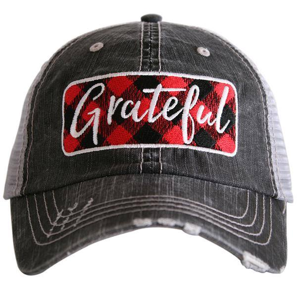 Grateful Buffalo Plaid Trucker Hat, HATS, Katydid, badhabitboutique