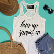 Hair Up Sunnies On Tank Top, CLOTHING, BAD HABIT APPAREL, BAD HABIT BOUTIQUE