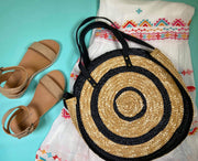 Circle Woven Handbag, Circle Woven Handbags, Circle straw hand bags,  straw purses, beach bag, spring handbags, summer handbags