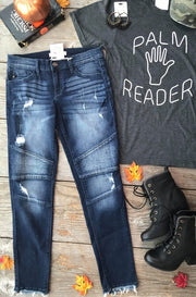 DARK MORTON SKINNY JEANS (MOTTO), BOTTOMS, KAN CAN, badhabitboutique