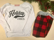 Holiday Vibes Slouchy Sweatshirt | WHITE