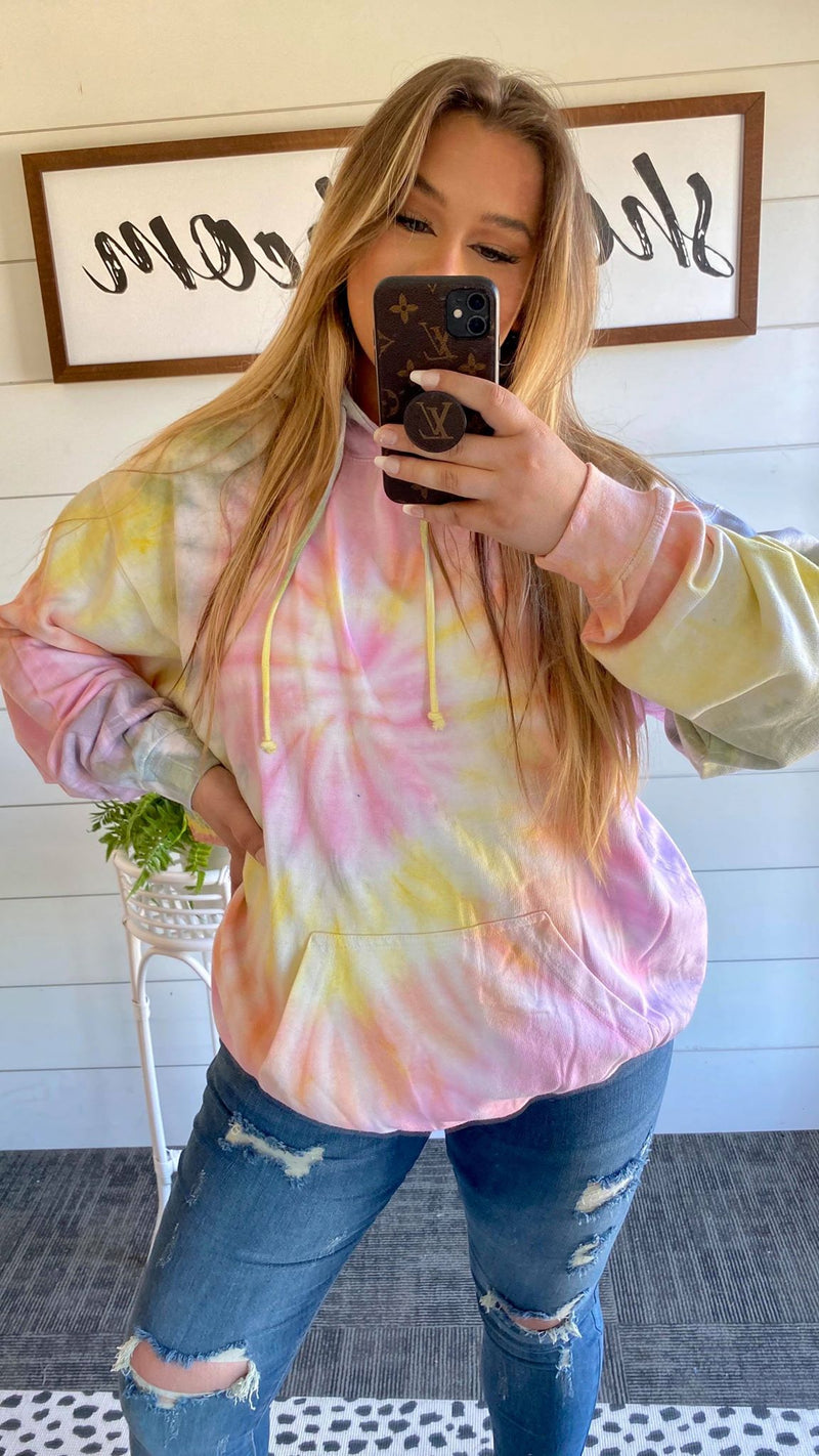 Horizon Bomb Tie Dye Hoodie | FINAL SALE, CLOTHING, Exist Sport Line, BAD HABIT BOUTIQUE