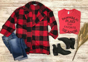 Buffalo Plaid Jacket, Jacket, HyFve, BAD HABIT BOUTIQUE