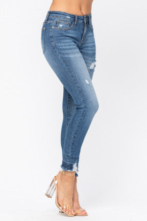 Distressed High Waist Skinny Jeans - Judy Blue, CLOTHING, JUDY BLUE, BAD HABIT BOUTIQUE