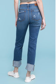 cuffed jeans, jeans, womens jeans, Judy Blue