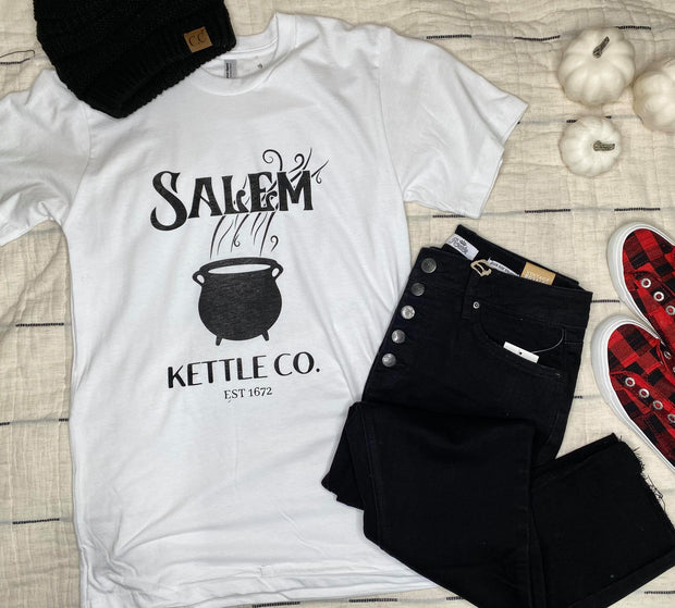 Salem Kettle Co. Graphic T-shirt -White