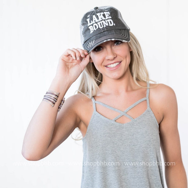Lake Bound Trucker Hat, ACCESSORIES, BAD HABIT APPAREL, BAD HABIT BOUTIQUE