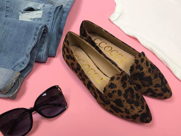 These leopard slip on shoes by CCocci are a stylish pair.