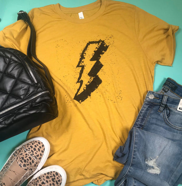 Lightning Strikes Graphic Tee, CLOTHING, BAD HABIT APPAREL, BAD HABIT BOUTIQUE