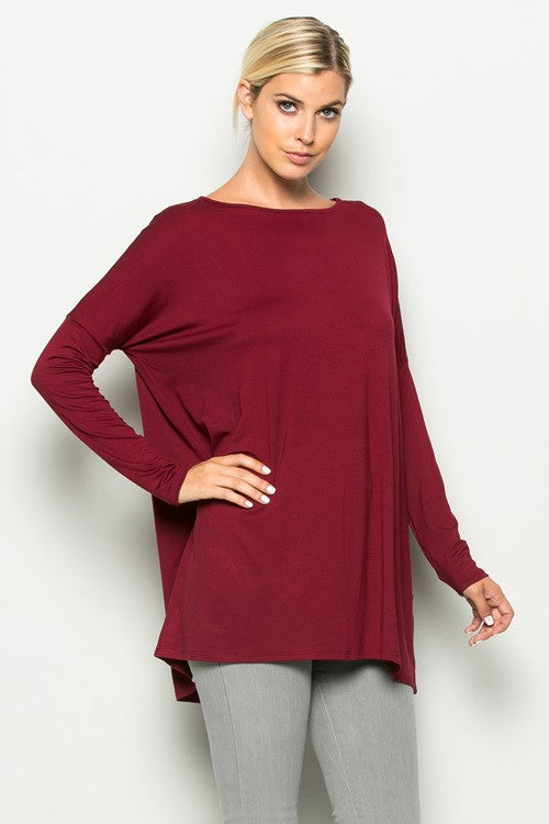 Long Sleeve Piko Top, CLOTHING, A.Gain, BAD HABIT BOUTIQUE