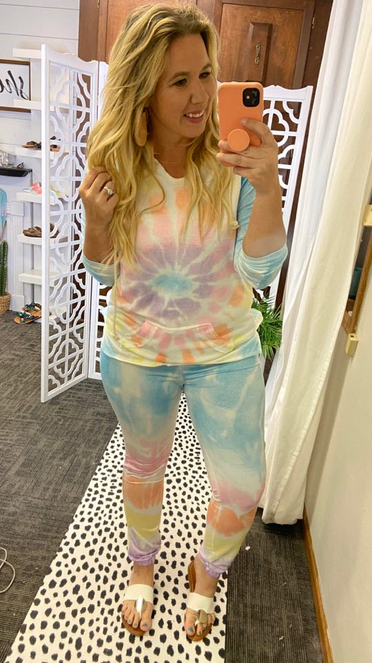 Tie Dye Lounge set,  pajamas