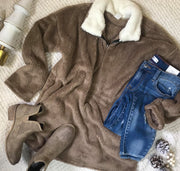 Fuzzy Pullover Sweater-Mocha, SWEATER, Bellamie, badhabitboutique