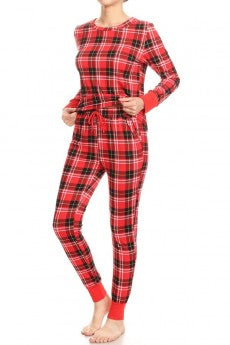 plaid pajamas, pajama set, plaid, plaid pj's, pjs, pj's