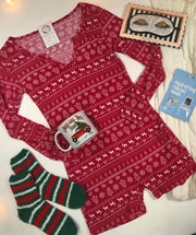 Holiday Fair Isle Thermal Pajama Romper
