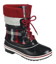 Plaid Sweater Duck Boots - Final Sale