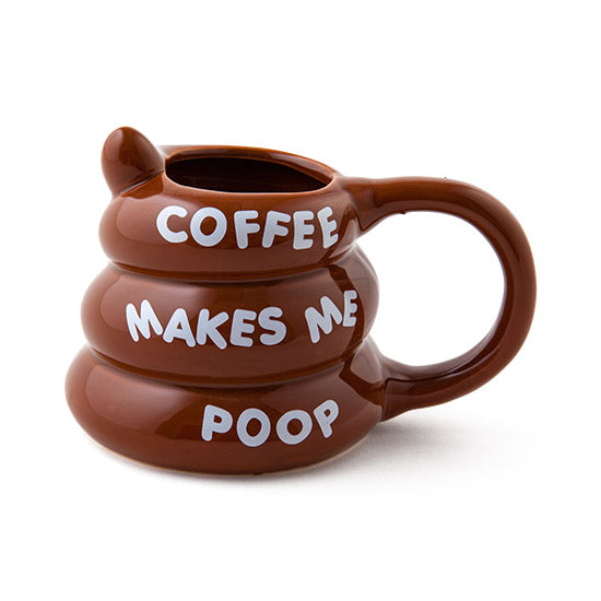 Coffee Makes Me Poop Coffee Mug, COFFEE MUG, Big Mouth, badhabitboutique