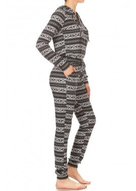 jumpsuit pajamas, pajamas, pjs, holiday pajamas