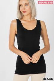 Scoop Neck Seamless Tank Top, CLOTHING, Zenana, BAD HABIT BOUTIQUE