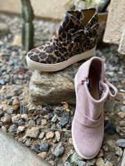 Julia Wedge Sneaker, Very G shoes, cheetah shoes, blush shoes