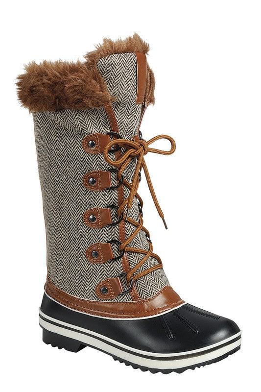 snow boots, duck boots, boots, womens boots, herringbone quilted boots,