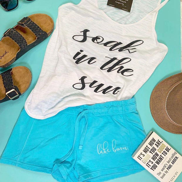 Soak In the Sun Tank Top - White, CLOTHING, BAD HABIT APPAREL, BAD HABIT BOUTIQUE