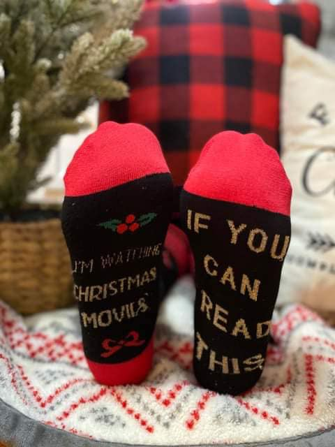 30 Days 30 Deals: If you can read this....Holiday Socks, CLOTHING, BAD HABIT APPAREL, BAD HABIT BOUTIQUE