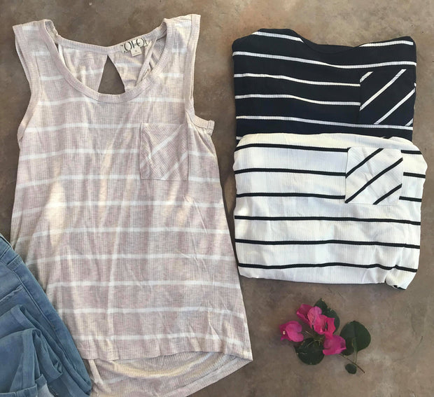 Striped Tank, CLOTHING, Color Story, BAD HABIT BOUTIQUE