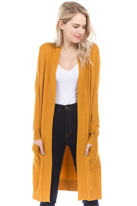 Long  Basic Boyfriend Cardigan, CLOTHING, CIELO, BAD HABIT BOUTIQUE