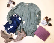 The Simple Things Sweater is just that the simple sweater for sweater weather.