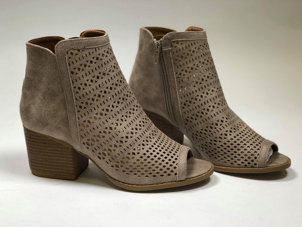 taupe  qupid perforated sandal