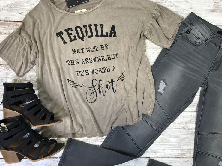 The tequila top is the perfect top to wear on vacation or that girls night out.