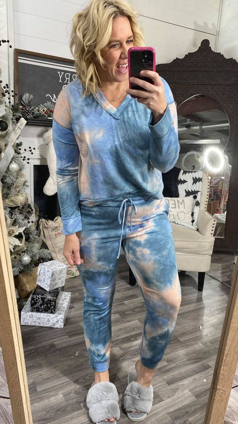 Tie Dye V-Neck Top, CLOTHING, White Birch, BAD HABIT BOUTIQUE