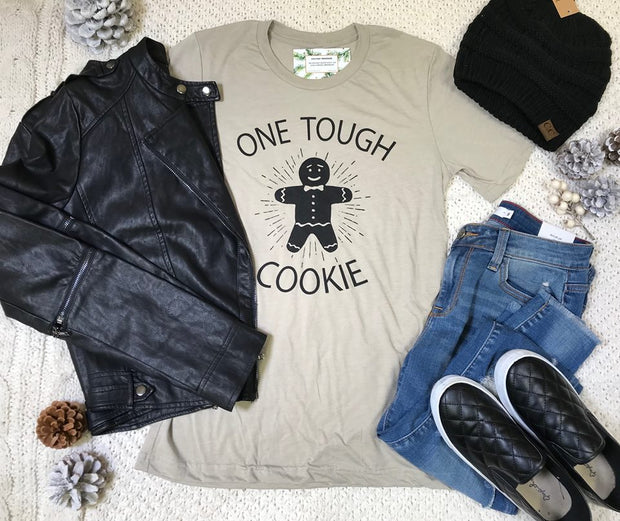 One Tough Cookie Graphic Tee- Oatmeal