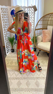 tropical maxi dress, maxi dress, dress, dresses, summer dresses