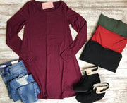 On the 5th Day of Christmas, Bad Habit gave to me an a-line tunic!  The perfect layering piece!~