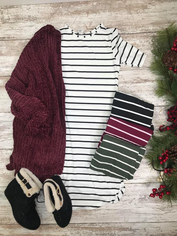 This striped tunic is the perfect layering piece for you!
