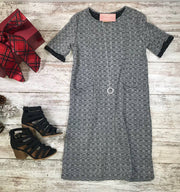 This Tweed Dress is an iconic piece for your wardrobe!  The perfect dress to add those opaque tights and heels too or keep it casual with cable knit tights and booties.