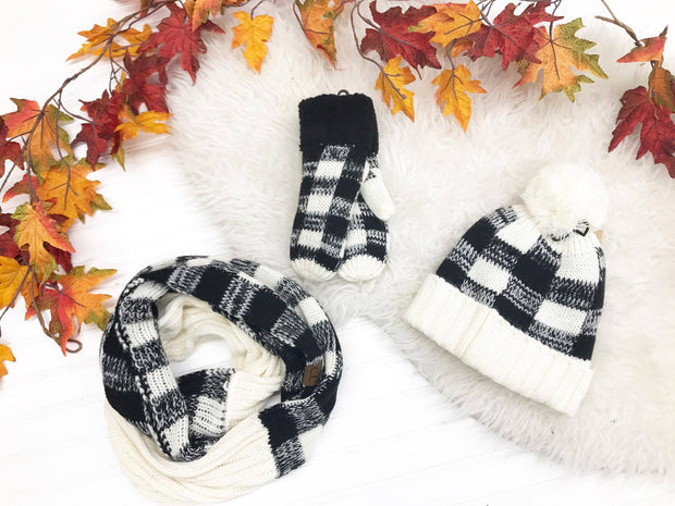 Buffalo Plaid Winter Hat, HATS, CCBEANIE, badhabitboutique