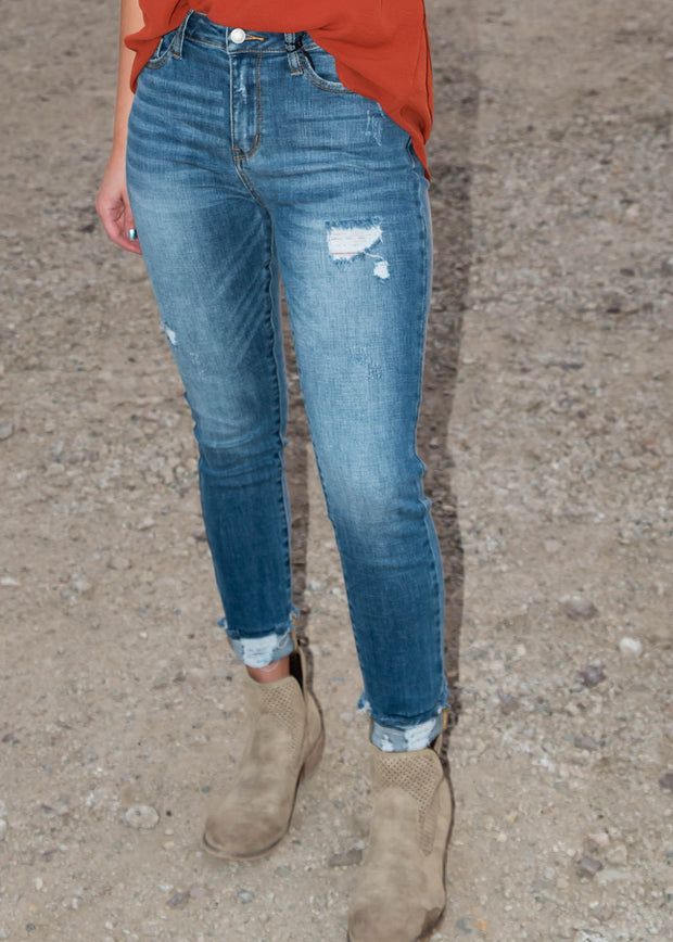 Distressed High Waist Skinny Jeans - Judy Blue