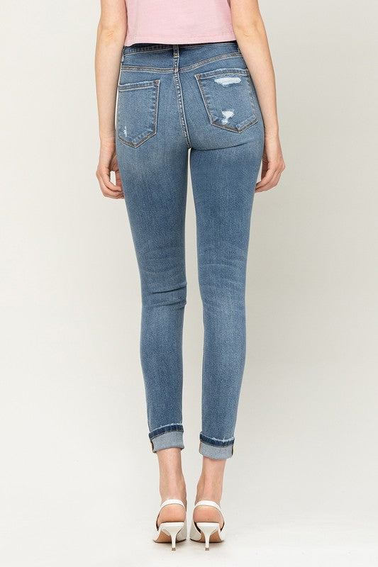 High rise Denim skinny jeans vervet flying monkey