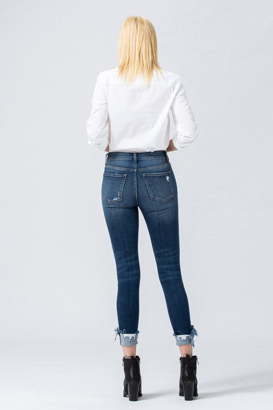 Mid Rise Distressed Crop Skinny Cuff Jean {VERVET}, CLOTHING, VERVET, BAD HABIT BOUTIQUE