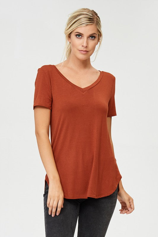 Essential V-neck Tee, CLOTHING, A.Gain, BAD HABIT BOUTIQUE