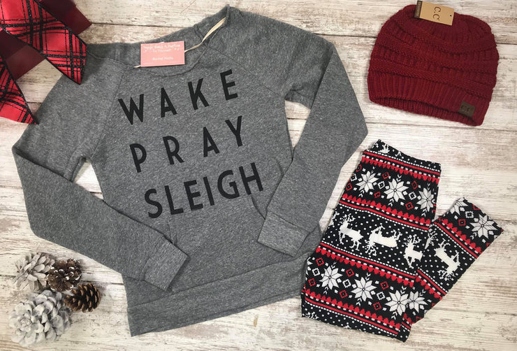 GIFT BOX | Wake Pray Sleigh | Slouchy-Legging-Beanie Set, GIFT BOXES, BAD HABIT APPAREL, badhabitboutique