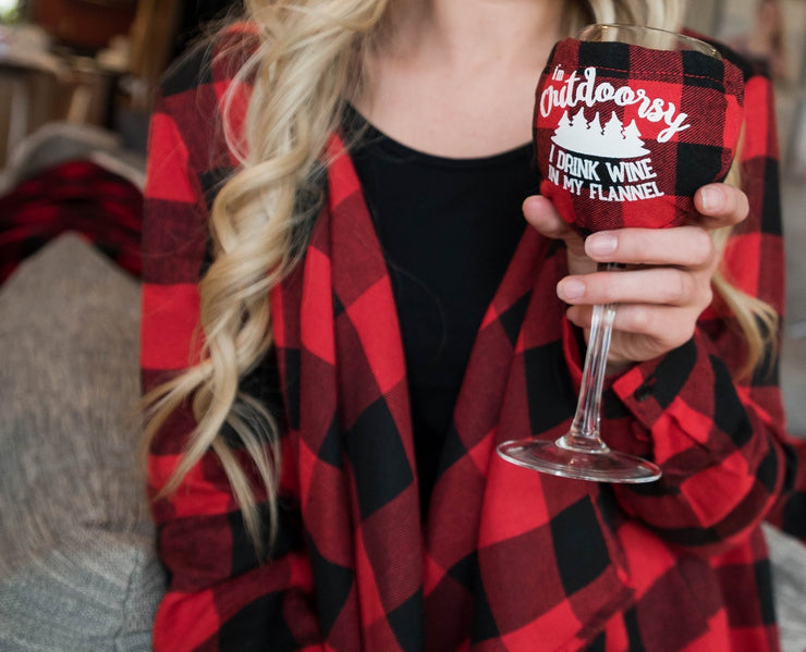 Flannel Wine Glass, GIFTS, BIG MOUTH, badhabitboutique