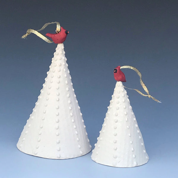 Cardinal and Dove Ornaments