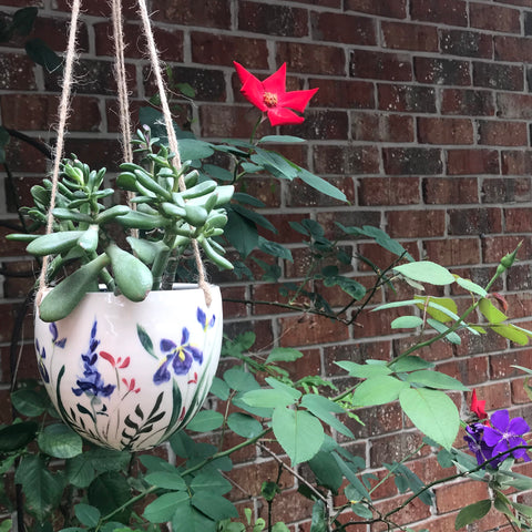 Hanging Planter, Wildflower, FortheGarden